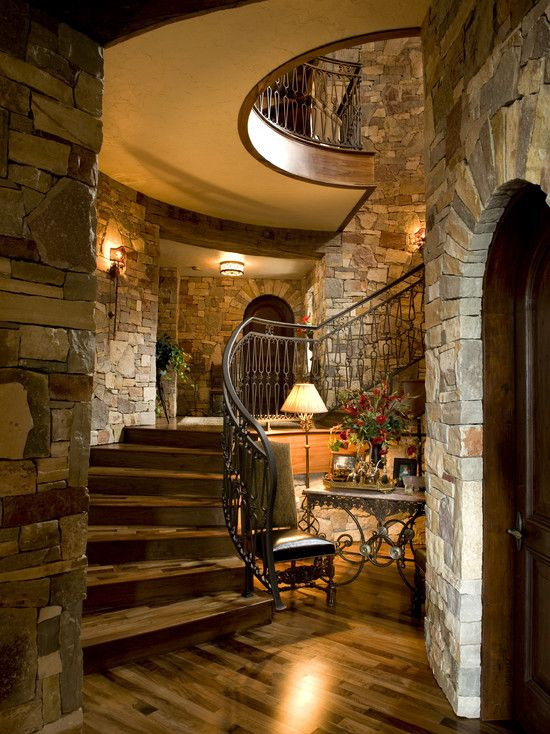 Lovely, Elegant Staircase With A Rustic House Design Home Design Room Design  Design Ideas Decorating Part 53