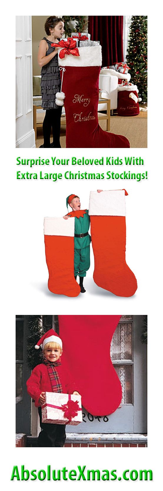 Surprise Your Beloved Kids With Extra Large Christmas Stockings! To Learn More About Where To Buy Extra Large Christmas Stockings, Visit My Site ➔ http://www.absolutexmas.com/extra-large-christmas-stockings/ #absolutexmas