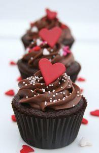 バレンタインカップケーキ簡単デコ