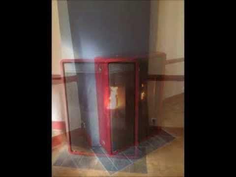 Installation d'un poêle à granulés de bois EDILKAMIN - YouTube