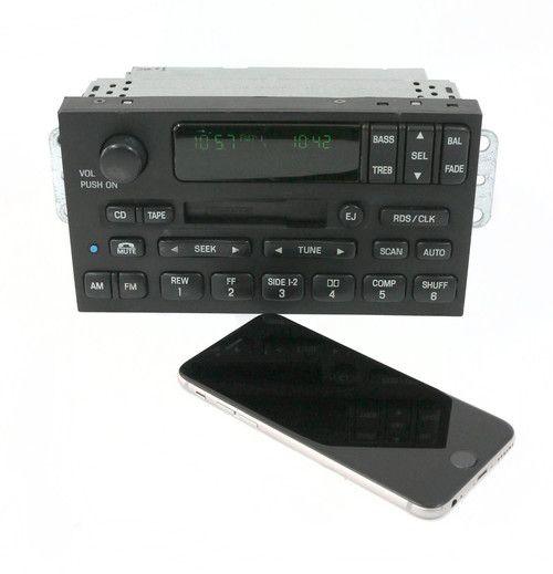 2000-2002 Mercury Villager AM FM Radio Cassette w Bluetooth Part YF5F-18C870-BA