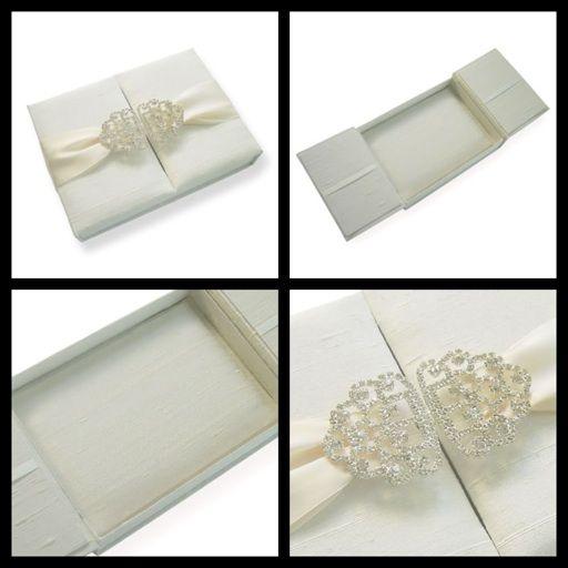 "50 Ally James Silk Gatefold Invitation Boxes (5.5""x7.5""x1"")   www.allysonjames.net"