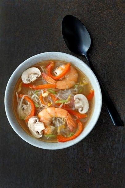 Le bouillon japonais, crevettes et vermicelles du Chef Liguori de Zôdio Villeneuve d'Ascq ! La recette ici : http://blog.zodio.fr/wp-content/uploads/Bouillon-japonais-aux-crevettes.pdf