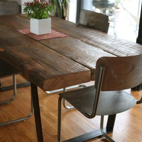 reclaimed dining table by left to right furniture - Designer Wood Dining Tables