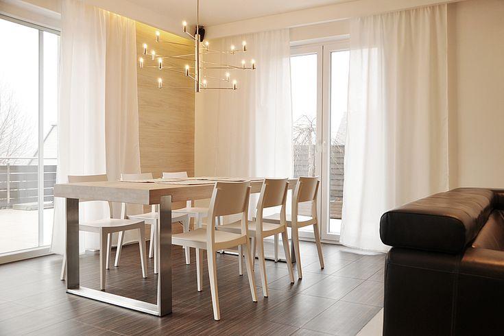 FRAME dining table. Size: 200/90/76. Colour: Off White / Inox. - www.miloni.pl/en MILONI: wooden table, oak table, natural wood table, table design, furniture design, modern table
