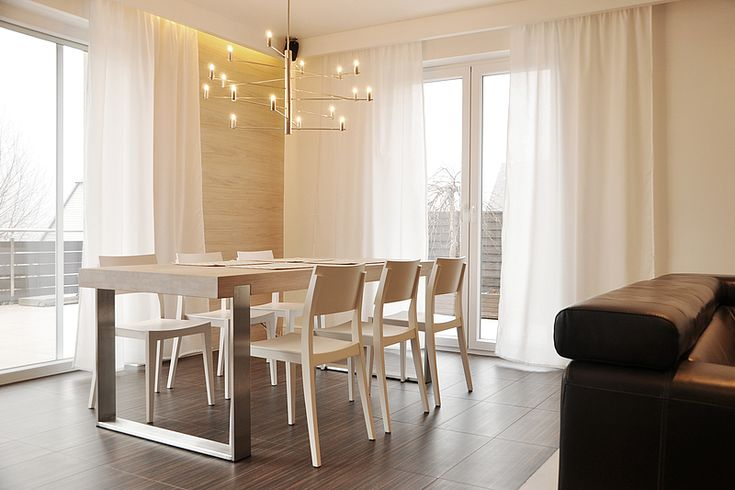 FRAME dining table. Size: 200/90/76. Colour: Off White / Inox. - www.miloni.pl/en MILONI: wooden table, oak table, natural wood table, table design, furniture design, modern table
