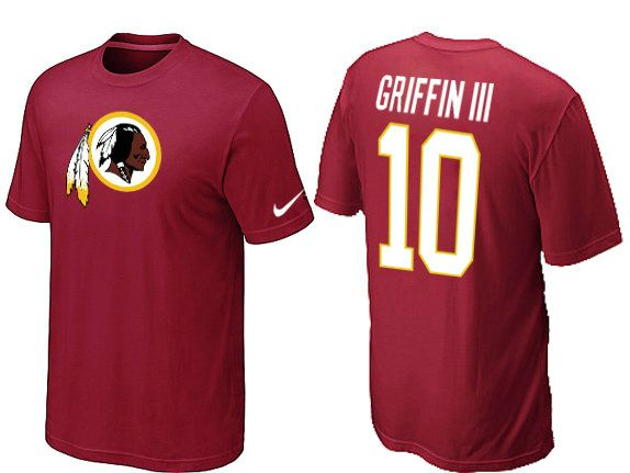 Nike Washington Redskins #10 Robert Griffin III Name & Number NFL T-Shirt - Red Sale