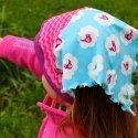 Kopftuch mit Bündchen // Anleitung // tutorial // Head scarf toddler