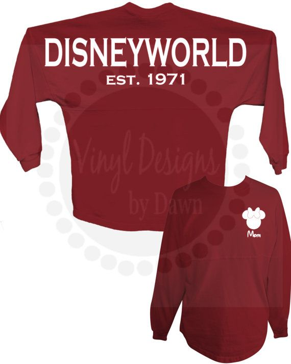 Disney World or Disneyland Spirit Jersey with Mickey or Minnie Personalized Front  With athletic stripes and an oversized fit, the spirit