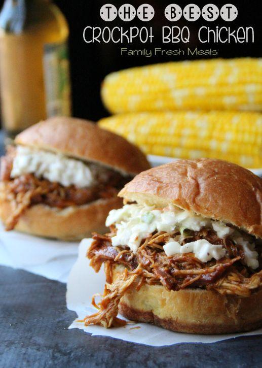 The Best Crockpot BBQ Chicken - Family Fresh Meals -
