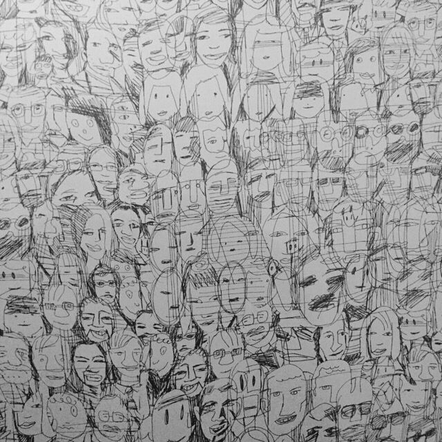 A lot of faces