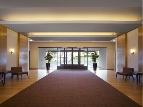 LED Strips in the entryway of a business #entrance #lighting