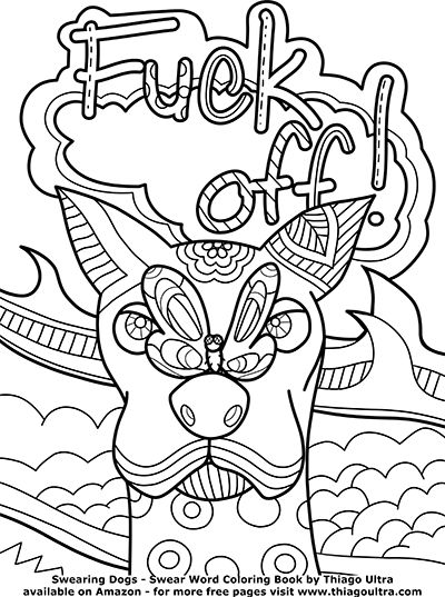 21 Best Sweary Coloring Pages For Adults Images On