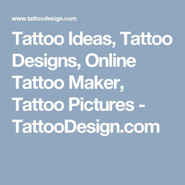 Tattoo Ideas, Tattoo Designs, Online Tattoo Maker, Tattoo Pictures - TattooDesign.com