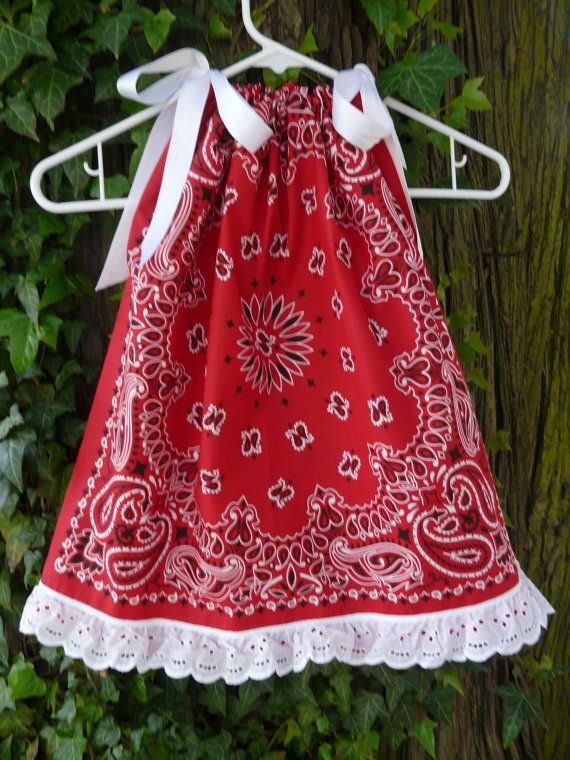Cute Ideas For Pillowcase Dresses : Bandana Pillowcase Dress ... no pattern.. but cute, cute.. cute.. how difficult would it be ...