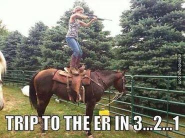 Trip to the ER in 3... 2... 1... hahaha I can see me doing this! Gotta try my bow first tho ;)