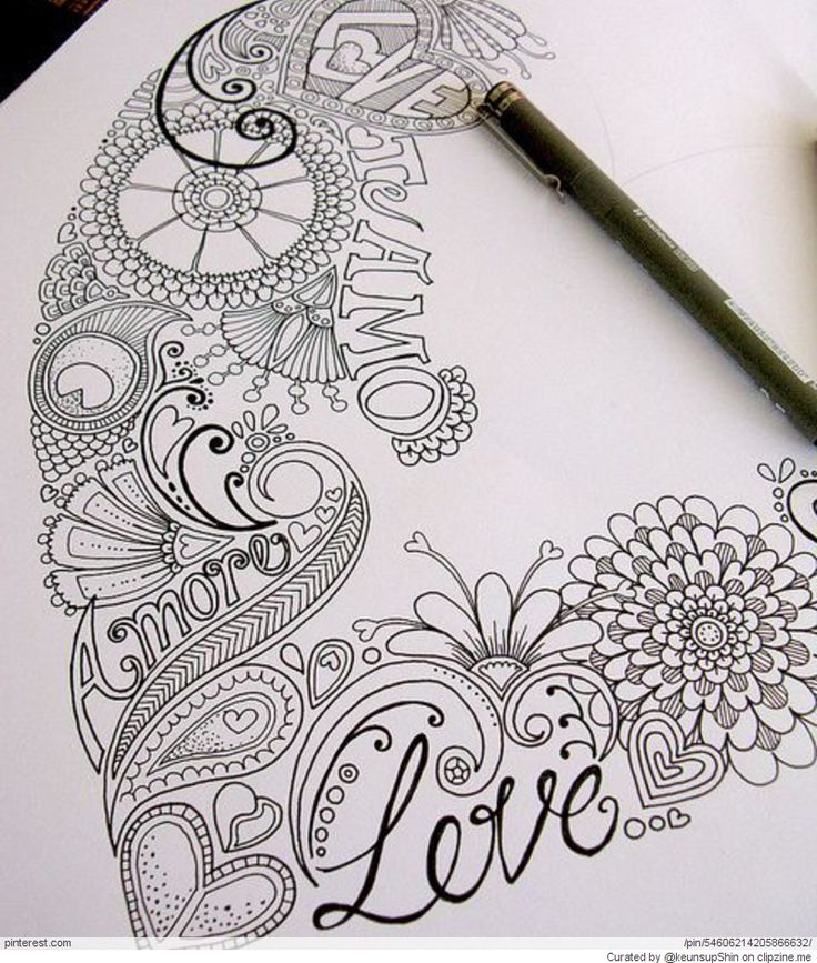 Zentangle Ideas | Zentangle Valentine's Day Ideas | wishstory