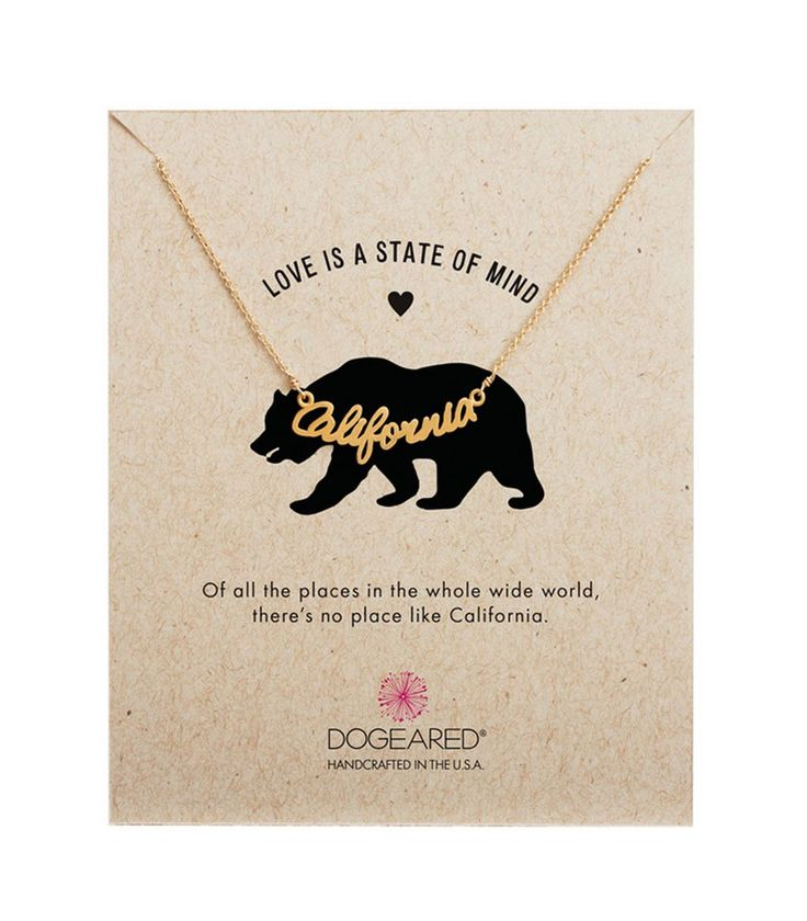 Dogeared Love is a State of Mind California Script Necklace