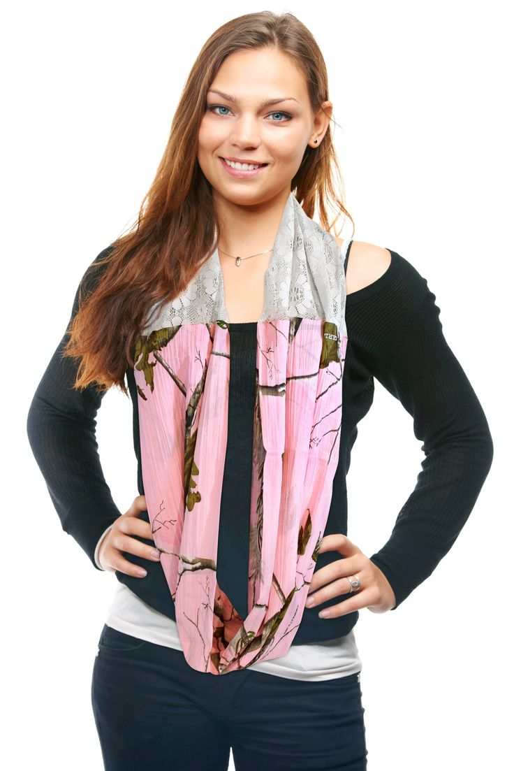 Realtree Girl Pink Camo & Lace Infinity Scarf Free Shipping! – Camo Chique