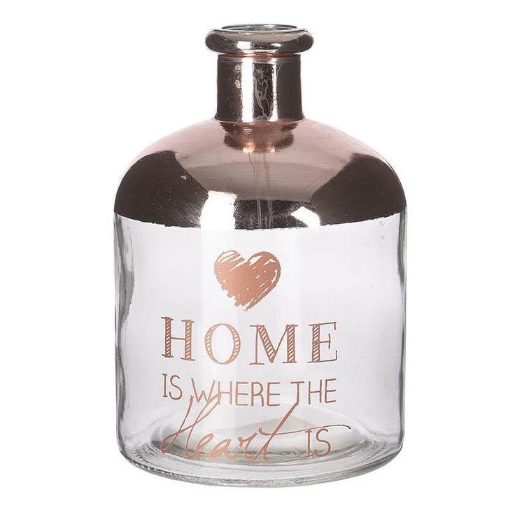 Βάζο γυάλινο Home (small)  Τιμή: €5,60 http://www.lovedeco.gr/p.Vazo-gyalino-Home-small.867415.html