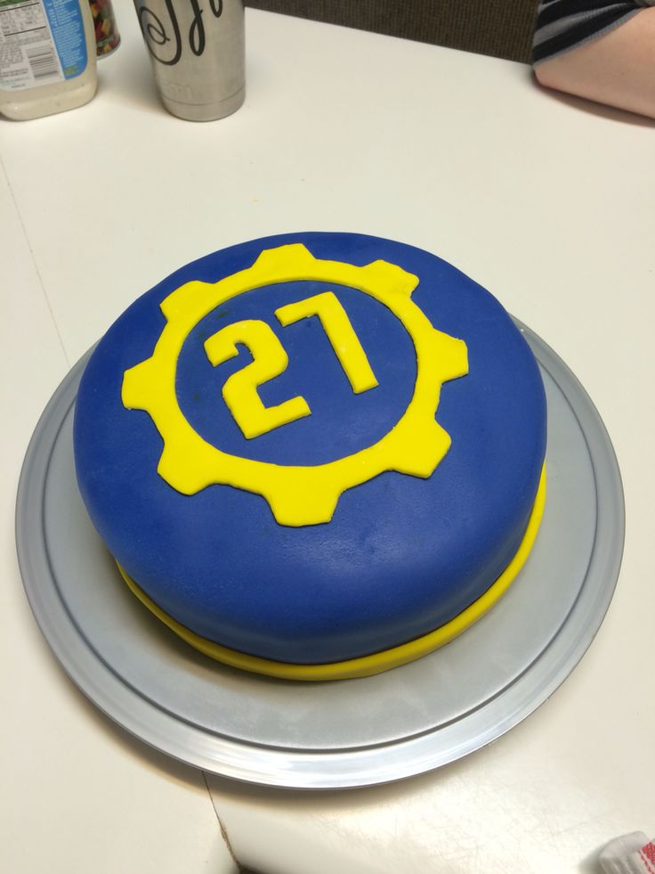 Fallout cake! Vault 27 or however old you are :)