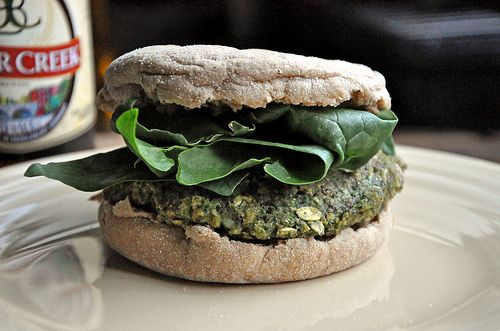 Black Bean-Spinach Burgers! (and more links to other types of homemade burgers!).