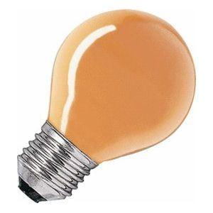 Kogel-lamp  15 watt E27 oranje