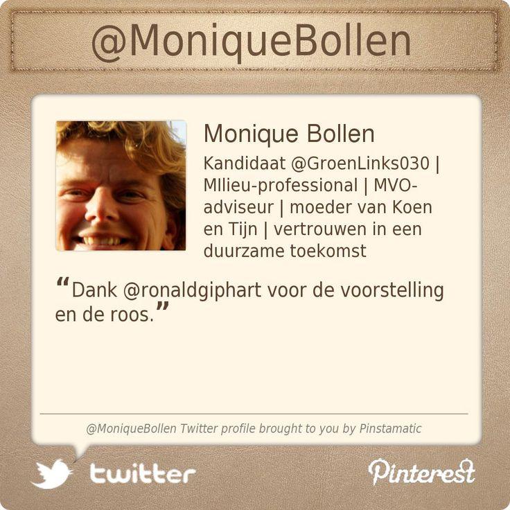 Twitter account @Monique Bollen