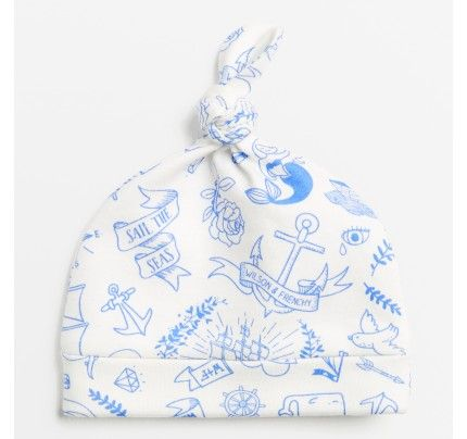 Ahoy There Baby Knot Hat from Wilson & Frenchy's AW16 collection, available from Baby Dino here: http://www.babydino.com.au/shop-by-collection/wilson-frenchy-aw16.html