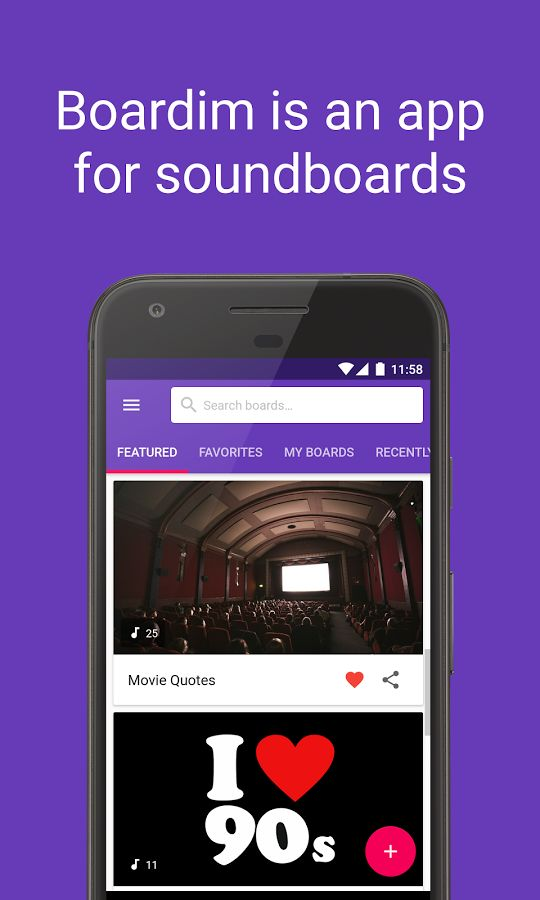 Boardim Create and discover soundboards Movie quotes