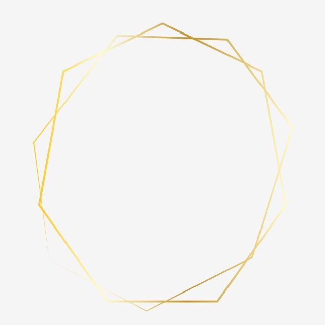 Golden Polygon Clipart Png Vector Element Frame Invitation Lovely Frame Golden Png And Vector With Transparent Background For Free Download Clip Art Gold Wallpaper Background Floral Border Design