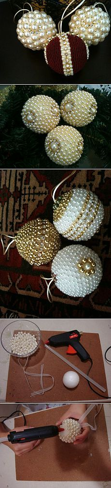Gorgeous pearl ornaments