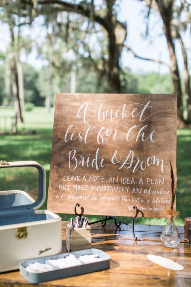 cute wedding guestbook idea bucket list