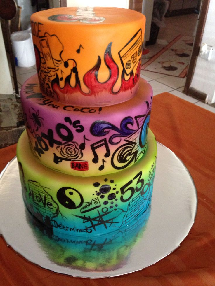 75 best Graffiti cakes images on Pinterest | Graffiti, Birthday ...