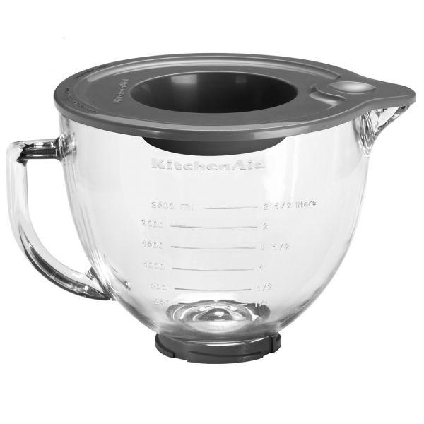 KitchenAid bolle i Glass 4,83 Liter med Silikonlokk - 5KGB