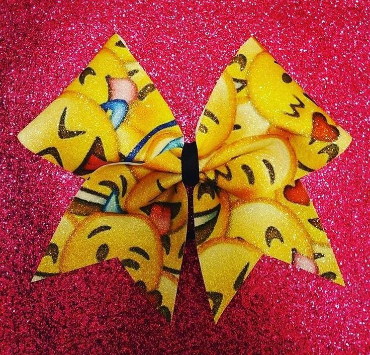 Emoji Bow by Just Cheer Bows