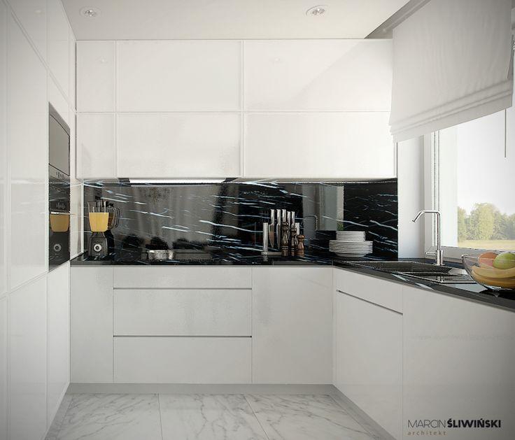 Glamour Kitchen (bright) - kuchnia w stylu glamour jasna; interior design architect Marcin Śliwiński Poland;  https://www.facebook.com/architectmarcinsliwinski?fref=ts