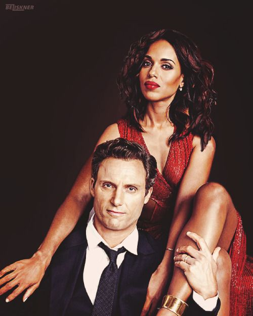 Kerry Washington & Tony Goldwyn I have to work on my photoshop skills. So necessary!