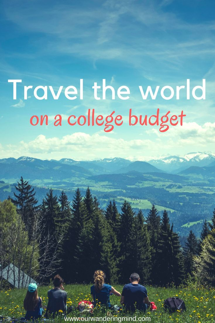 How to travel the world on a college budget. Check out these tips and must-use websites for getting the best deals when it comes to traveling.