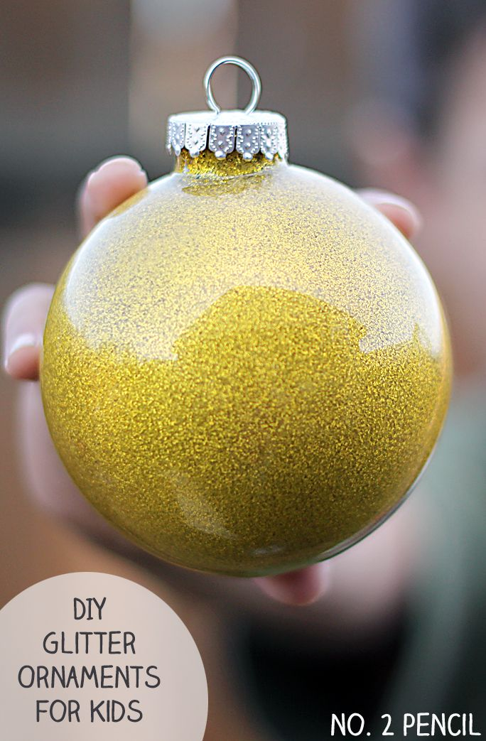 DIY Glitter Ornament Craft for Kids