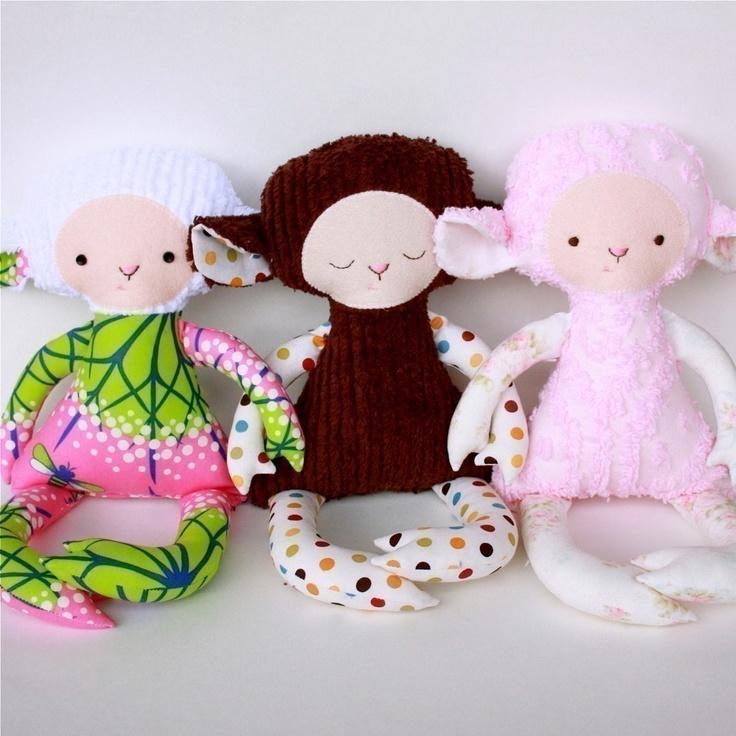 Lilly Lamb PDF Doll Pattern. $11.00, via Etsy.