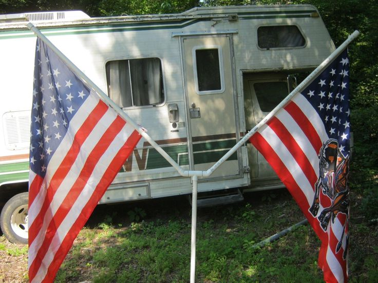 Flag Poles And Parts 43536 Rotating Double 7ft Pvc