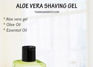 Natural Homemade Shaving Gel and cream