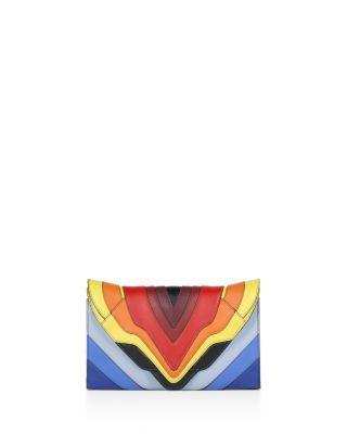 ELENA GHISELLINI Selina Leather Clutch. #elenaghisellini #bags #shoulder bags #clutch #leather #hand bags #