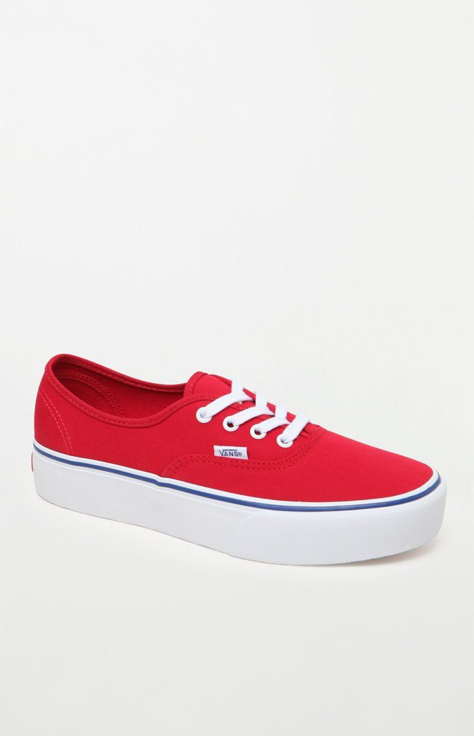 89f01efe5627ca Vans Women s Red Authentic Platform 2.0 Sneakers at PacSun.com ...