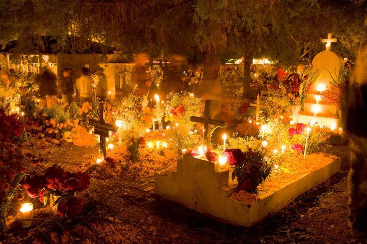 graveyards around Morelia during Día de los Muertos (Day of the Dead) in Mexico