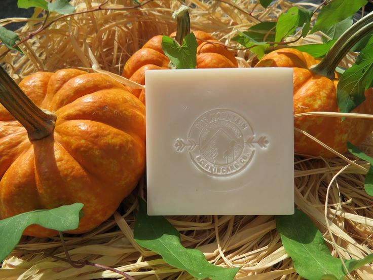 """""""PUMPKIN"""" ~ BC Wild Glacial Clay Organic soap ~ Made by: THE MOUNTAIN: BC SKINCARE CO. for $15.00 CAD bcmnt.skincareco@gmail.com"""