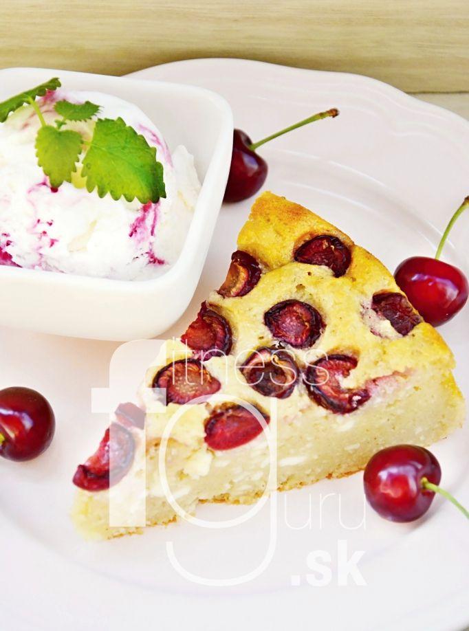 Tvarohovo-krupicový koláč s čerešňami