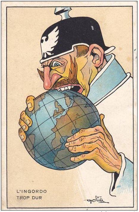 """WWI-era poster by the Italian caricaturist """"Golia"""" (Eugenio Colmo)"""
