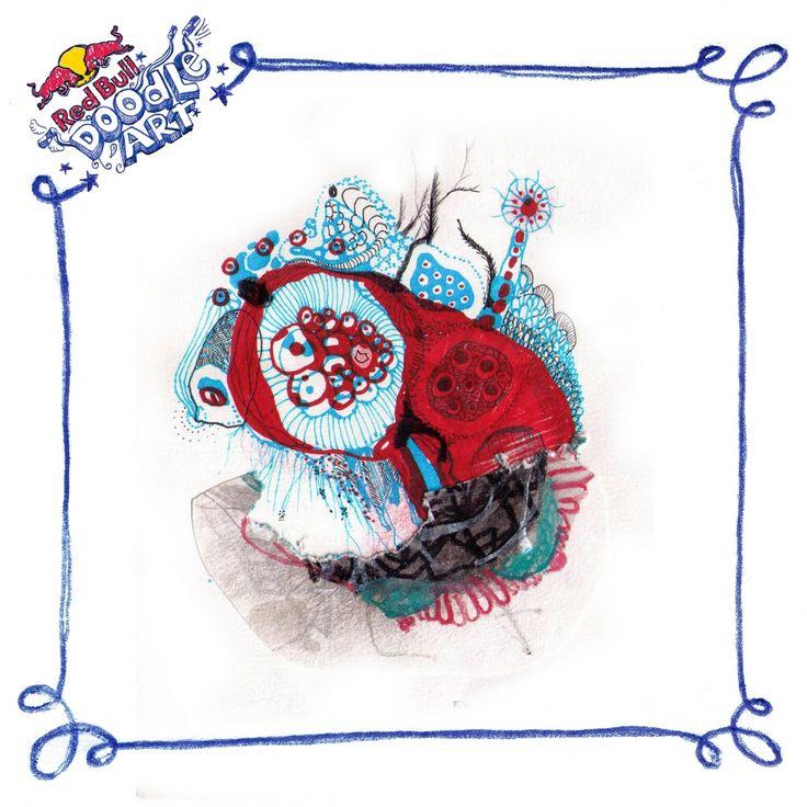Red Bull Doodle Art Zofia Mackiewicz